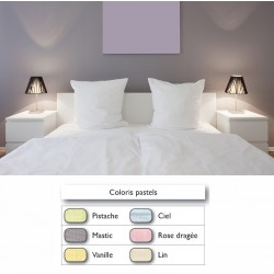 Lot de 10 taies 100% coton couleur pastel 63x63 Bourdon