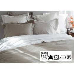 Lot de 3 draps plats 180x290 cm OS 4/4 percale 100% coton blanc