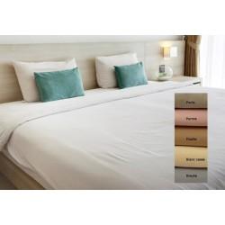 Lot de 15 draps plats coton couleur 240x320 cm