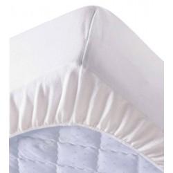 Lot de 6 protège matelas draps housses 90x200 cm 100% coton 200g