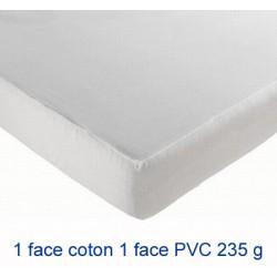 Lot de 10 protège-matelas drap housse imperméable coton et pvc 235g 90x190 cm