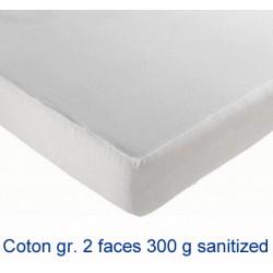 Lot de 10 protège-matelas drap housse coton gratté 2 faces 300g 90x200 cm