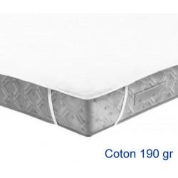 Lot de 15 protège-matelas forme plateau élastiqué aux 4 coins coton 190g 140x200 cm