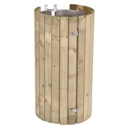 Entourage grille bois pour support sac Nice