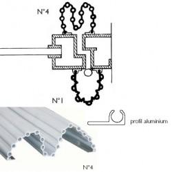 Anti-pince doigts garomin® L140 cm pour angle de porte battante