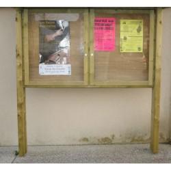 Panneau d'affichage Bakou avec vitrine sans toit 130x130 cm