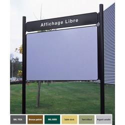 Panneau d'affichage libre double face à la Française