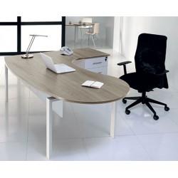 Bureau Futura compact accueil simple face départ 200 cm gau pieds métal