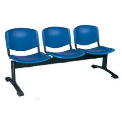 Siège poutre Emmanuelle 4 places assise et dossier polypropylene