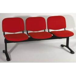 Siège poutre Emmanuelle 2 places assise et dossier tissu standard