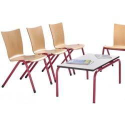 Table basse Federica mélaminé 100x50 cm