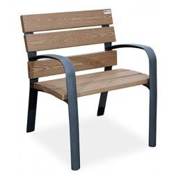 Fauteuil fonte et bois recyclé polymère Adour
