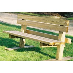 Banc bois carré Amazon L194 cm
