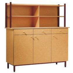 Buffet 3 portes 3 tiroirs L150xH102xP55 cm