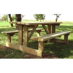 Table de pique nique Martigues en châtaigner L200xP80 cm