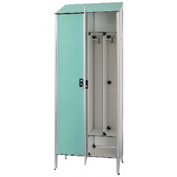 Vestiaire stratifié industrie salissante 2 cases L80xP50,5xH192 cm
