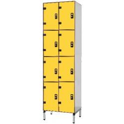 Vestiaire stratifié multicasiers 8 cases L80xP50,5xH192 cm