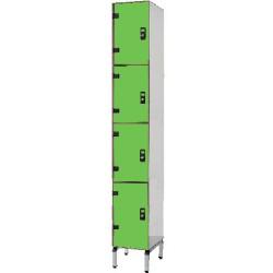 Vestiaire stratifié multicasiers 4 cases L40xP50,5xH192 cm