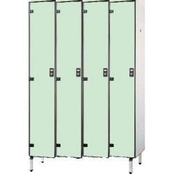 Vestiaire stratifié industrie propre 4 cases L124xP50,5xH192 cm
