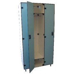 Vestiaire stratifié industrie propre 3 cases L93xP50,5xH192 cm