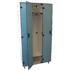 Vestiaire stratifié industrie propre 3 cases L93xP50,5xH192 cm