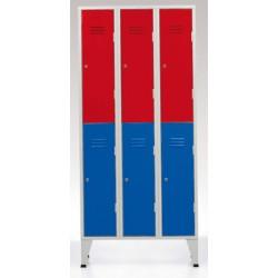 Vestiaire Eco 3 colonne 6 cases L90xP50xH190 cm