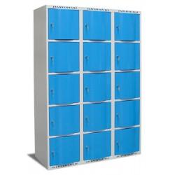 Vestiaire multicases portes bombées 4 colonnes 20 cases L120xP49xH180 cm