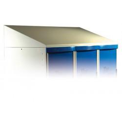 Coiffe H20xP50 cm pour vestiaires Eco et Top L120 cm