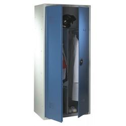 Armoire penderie monobloc avec serrure de sureté L60xP50xH180 cm