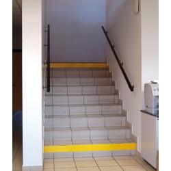 Ruban adhésif de repérage des contre marches 10x0,1 m jaune