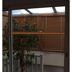 Ruban adhésif de repérage des surfaces vitrées 10x0,05 m coloris orange et photoluminescent