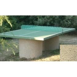 Table ping-pong en béton pieds ronds ton pierre sablé