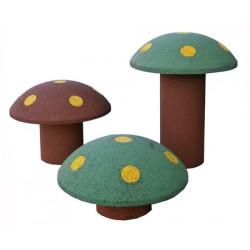 Lot de 3 champignons en caoutchouc recyclé