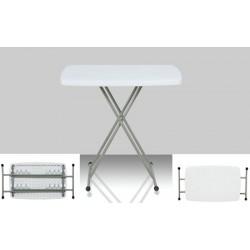 Table pliante polyéthylène Eco ajustable 55x70 cm