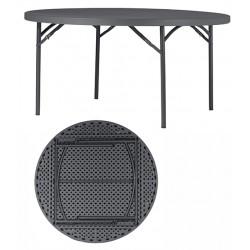 Table pliante polyéthylène Q+ ø 152,4 cm