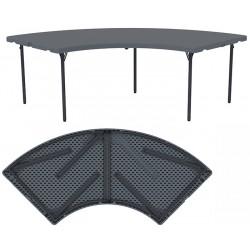 Table circulaire pliante et assemblable polyéthylène Q+ 181,5x181,5 cm