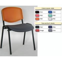 Chaise empilable Emmanuelle tissu non feu et resille