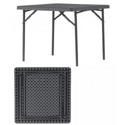 Table pliante polyéthylène Q+ 91,4x91,4 cm