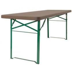 Table brasserie polyéthylène L220xP67xH77 cm