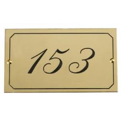 Plaque numéro de chambre ovale en laiton brosse h 37xL67 mm