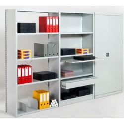 Rayonnage de bureau 5 niveaux suivant L125xP38,8xH200 cm