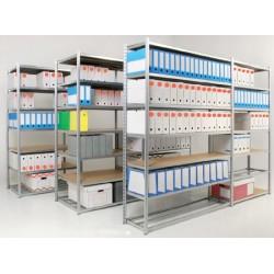 Rayonnage archives suivant 7 niveaux H200xL125xP38,8 cm