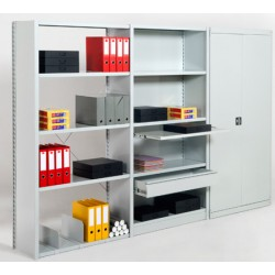 Rayonnage de bureau 5 niveaux suivant L100xP60xH200 cm