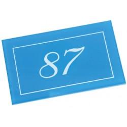Plaque numéro de chambre en altuglass teinté 120x70 mm