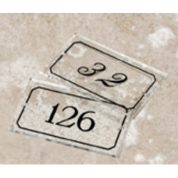 Plaque numéro de chambre en altuglass 120x70 mm