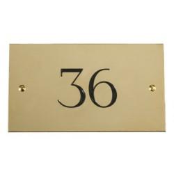 Plaque numéro de chambre en laiton massif 120x70 mm