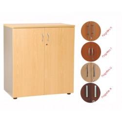 Armoire mi-haute manager 2 portes H102xL80 cm 2 tablettes bois