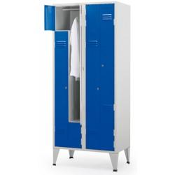 Vestiaire Eco porte en Z 2 colonnes 4 cases L80xP50xH190 cm