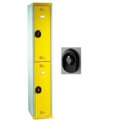 Vestiaires multicasiers à monter 2 portes avec moraillon H180xP50xL40 cm
