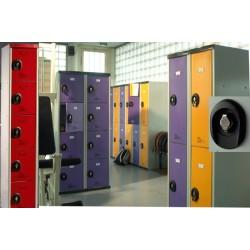 Vestiaires multicasiers à monter 5 portes avec moraillon H180xP50xL30 cm